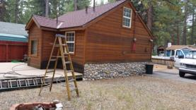 Bleaching wood siding by Woodard Painting